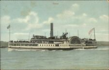 Manhattan Coney Island Area Iron Steamboat Co Ship CETUS c1910 Postcard