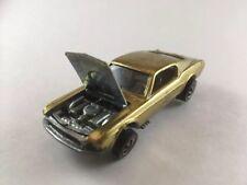 Hot Wheels Redline 1968 Custom Mustang  Gold w Bronze Interior