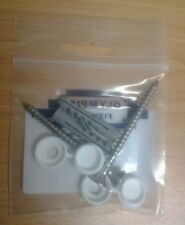 Screws for fixing toilet pan to floor stainless steel pack of 2 including plugs