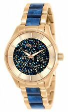 Invicta 25243 Angel 34MM Women's Blue and Rose-Tone Stainless Steel Watch