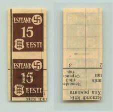 Estonia 1941 SC N3 MNH imperf printed on russian book pair . f3296