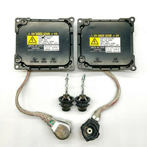 2x OEM Toyota Solara Venza Xenon Ballast & HID D4S Bulb Kit Module Control Unit