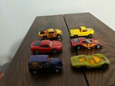 6 Cars Including some vintage cars from 1969, 1973, 1977. Matchbox Hot Wheels