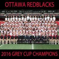 CFL 2016 Ottawa Red Blacks Grey Cup Champions Team Pic Color 8 X 10 Photo Pic