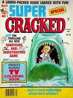 Vtg 1982 SUPER CRACKED MAGAZINE #17 JAWS CRACKED TV COLORING BOOK  m1268