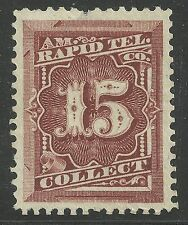 us revenue telegraph tax stamp scott 1t11 - 15 cents - American Rapid Tel. - mng
