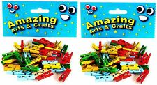 Mini Clothes Pegs 100 pcs Assorted Colours