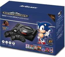 SEGA Mega Drive Flashback Mini HD Console with Wireless Controllers - Black