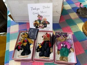 Deb Canham 3 bear lot Lady Bug 8th Bumble Bee 6th Flutterby 7th Club Piece new