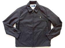 New Ralph Lauren Polo Black 100% poly Windbreaker Pony Logo Jacket sz XXL