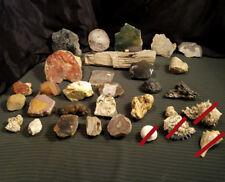 10Kg Lot Assorted Minerals ~ 26 Pcs ~ Petrified Wood / Agate / Jasper / Obsidian