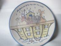 """Louisville Stoneware Noah's Ark 14"""" Round Platter Chop Plate"""