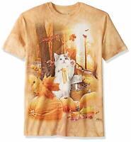 The Mountain Fall Kitty Festive Halloween Pumpkin Patch T-Shirt M-L-XL-2X-3X NWT