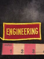 Yellow On Red ENGINEERING Engineer Patch 00MH
