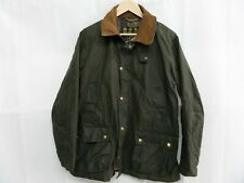 Barbour Men's Green Lightweight Wax Jacket Size Medium Used Slightly Damaged