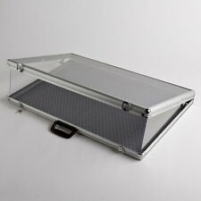 Large Portable Aluminum & Glass Counter Top Locking Jewelry Display Case Handle