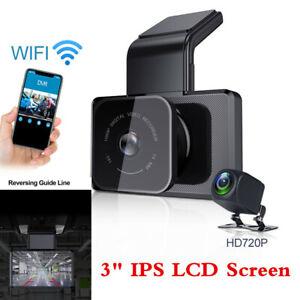 Dual Lens Car DVR Camera WIFI GPS Dash Cam Video Recorder G-Sensor Night Vision