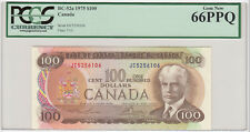 1975 Bank of Canada $100 Banknote - PCGS Gem New 66PPQ