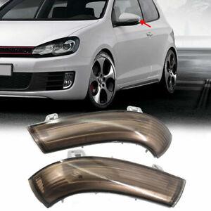 1 Pair Smoke Black Side Mirror Turn Signal Light For VW Golf Passat MK5 Jetta