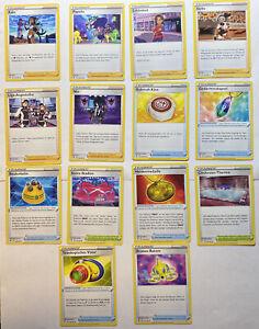 Pokemon Farbenschock Trainer Karten Set: 14 Stück Boosterfrisch