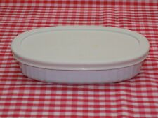 Corning Ware French White 15 oz Oval Baking Dish F-15-B with Plastic Lid