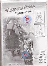 Farbenmix Germany ANNA WRAP DRESS Girls  2006 Sewing Pattern Multi Size 1 - 10