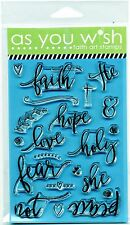Illustrated Bible Journaling Faith Hope Love Peace Fear Not - Faith Art Stamps