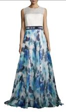 NEW CARMEN MARC VALVO INFUSION Silk Floral Skirt Combo Dress Gown  SIZE 10 $1395