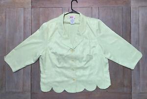Women's Skirt Suit 2pc Lime Green Skirt Jacket