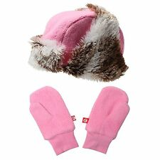 Nwt Zutano Shaggy Hat and Mittens Set - Pink Size 3T