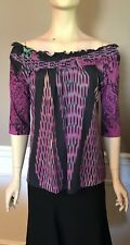 ETRO Print Off Shoulder Blouse Top Size 12/46 *NEW WITH TAGS*