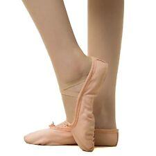 Toddler Girl  Ballet Dance Yoga Slipper Split Leather Sole Classic Canvas Shoes