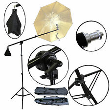 New Premium Boom Set Studio Photography with Light Stand Carrying Bag Us Seller