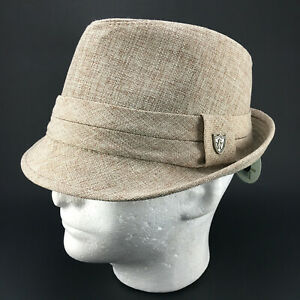Wool Look Trilby Hat Mens L/XL New/Tags Angela & William of NY Stingy Brim Woven