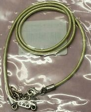 PANDORA | LIME GREEN LEATHER CHAIN NECKLACE *NEW* 590397LG-45 RETIRED RARE 925