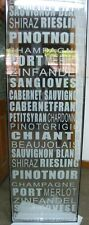 Etched glass door with WINE NAMES  67x21.5 x 3/4 for pantry or wine cellar room