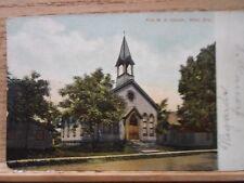 Niles Oh Ohio, First M E Church, early postcard