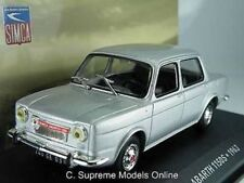 SIMCA ABARTH 1150S 1963 CAR MODEL 1/43RD SCALE SILVER COLOUR EXAMPLE T3412Z(=)