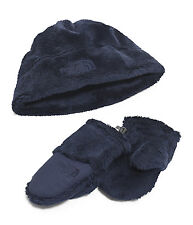 The North Face Boys BABY OSO CUTE COLLECTION Soft Fleece HAT MITTS Blue XS 6-24M