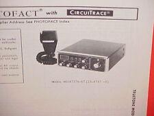 1977 TRUETONE CB RADIO SERVICE SHOP MANUAL MODEL MIC4737A-67 (23-4737-5)