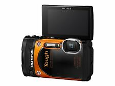 "Olympus TG-860 Tough Waterproof 16MP Digital Camera 3"" LCD Orange Floating Strap"