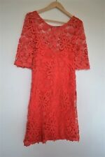 Robe Guess Rouge Corail Dentelle - S