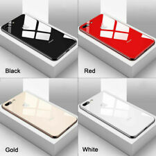 Lujo Hybrid Funda De Teléfono De Vidrio Templado para iPhone XR XS Max 8 7 X 6S Plus
