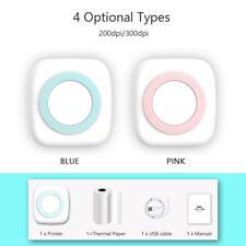 Mini tragbar Thermodrucker für Smartphone Handy Fotodrucker Rechnung USB W4D5
