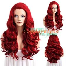 """Hot Sale !!! 24"""" Fashion Long Curly Red Lace Front Synthetic Full Hair Wig NEW"""