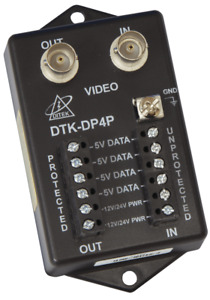 Ditek CCTV PTZ Camera Surge Protection DTK-DP4P 12/24v Coax Video 4 data pairs