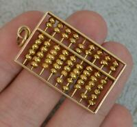 Heavy 14 Carat Yellow Gold Articulated Abacus Pendant f1138