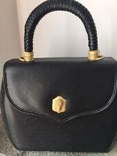 Barry Kieselstein Cord Black Textured Leather Alligator Trophy Bag