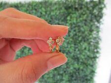 .40 Carat Diamond Yellow Gold Clip Earrings 14k E275 sep