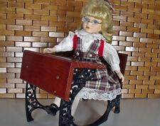 American Girl Samantha's School Desk / Cast Iron Pleasant Co & Doll